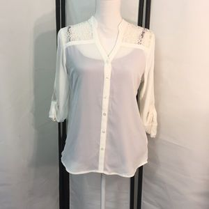 🌺NWT EXPRESS top, S/P, lace back 🌺